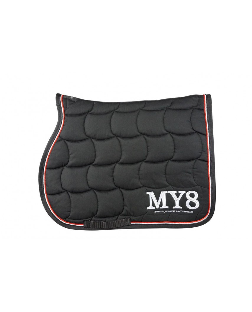 Black Red Silver Saddle Pad Equipements Et Accessoires My8